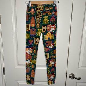 LulaRoe Santa Christmas legging